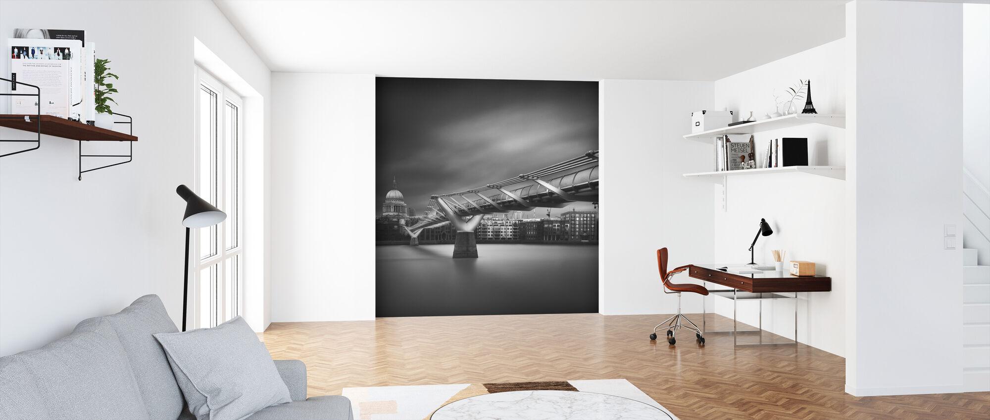 Millennium Bridge, czarno-białe - Tapeta - Biuro