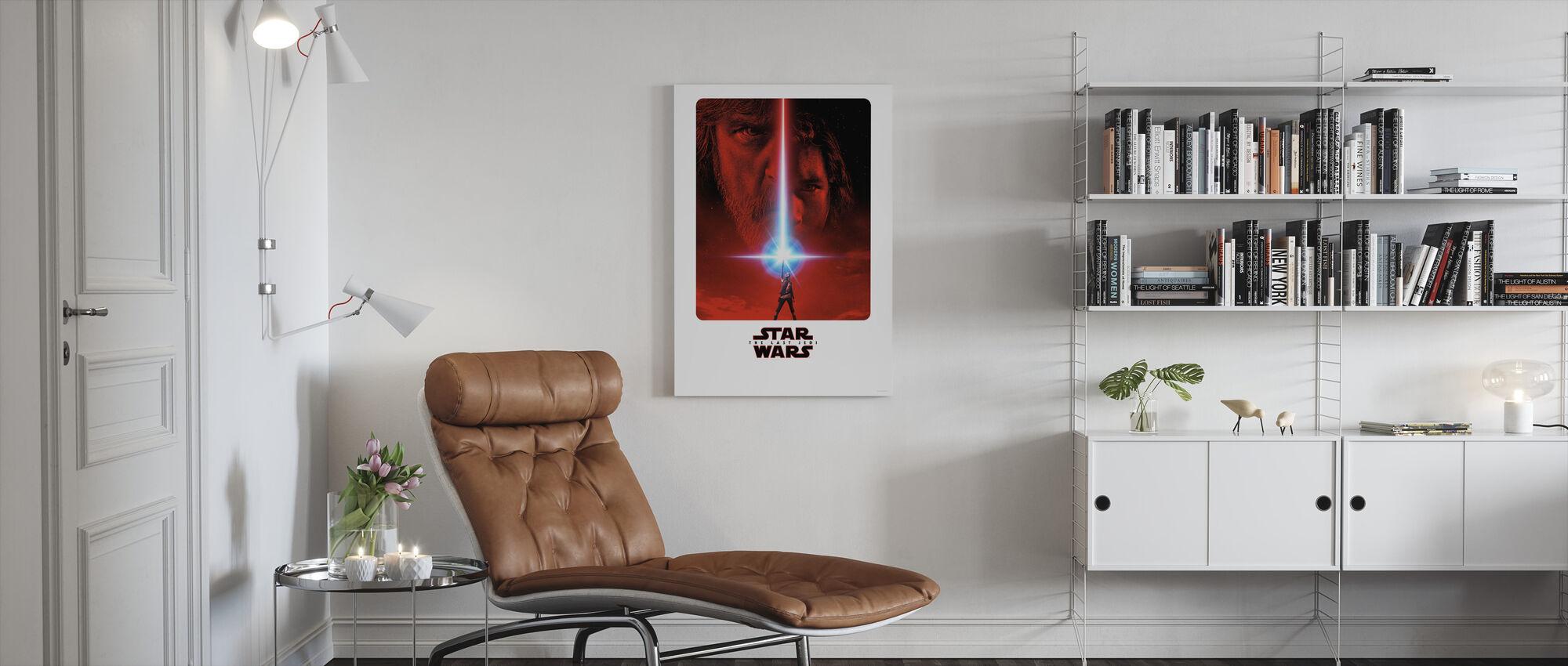 Star Wars - siste Jedi film plakat - Lerretsbilde - Stue