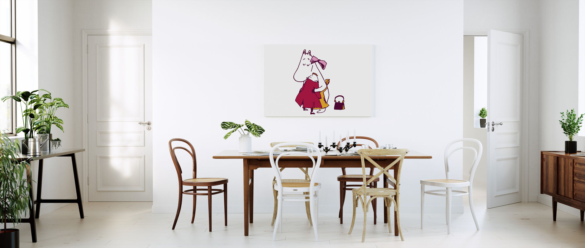 Moomin - The Invisible Child - Ninny and Moominmamma - Canvas print - Kitchen