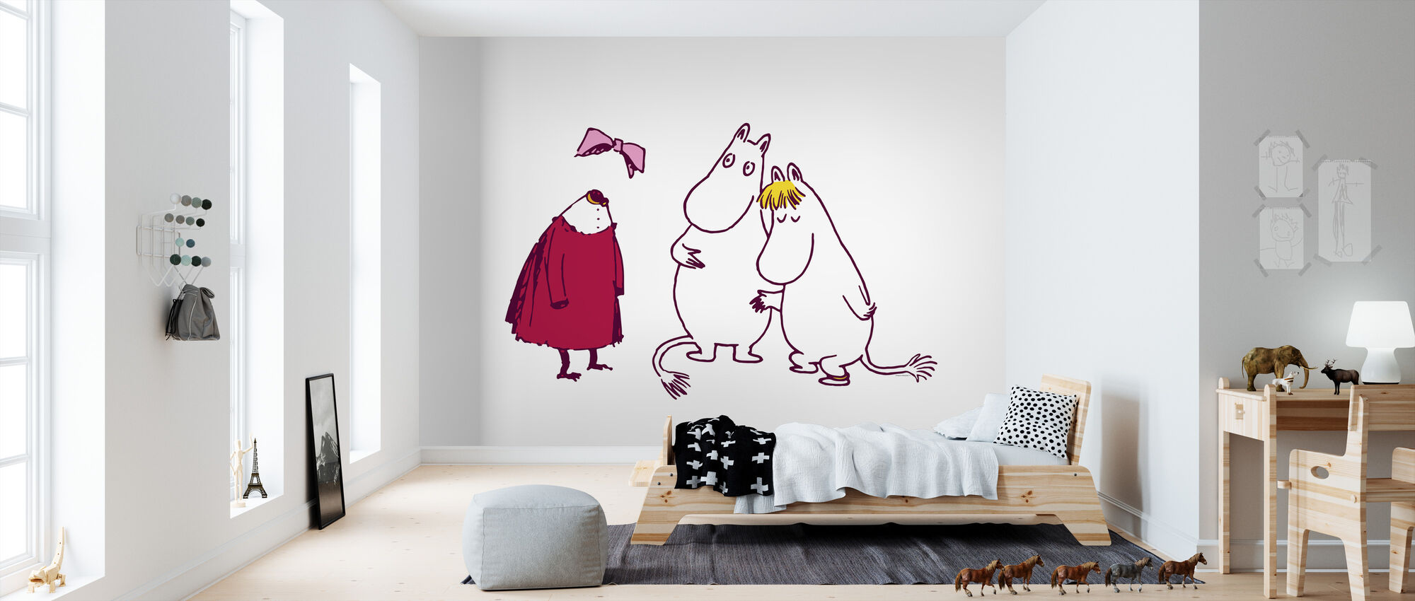 Moomin - The Invisible Child - Ninny, Moomin and Snorkmaiden - Wallpaper - Kids Room