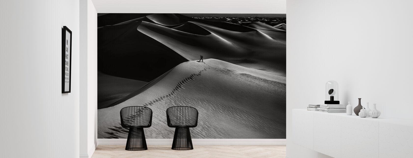 One Set of Footprints - Wallpaper - Hallway