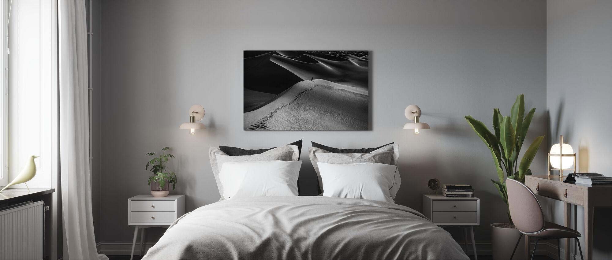 One Set of Footprints - Canvas print - Bedroom
