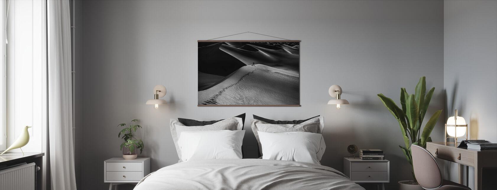 Eén set voetafdrukken - Poster - Slaapkamer
