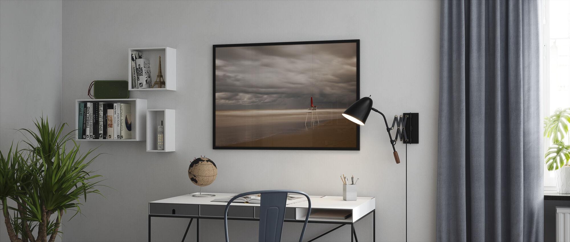 Red - Framed print - Office