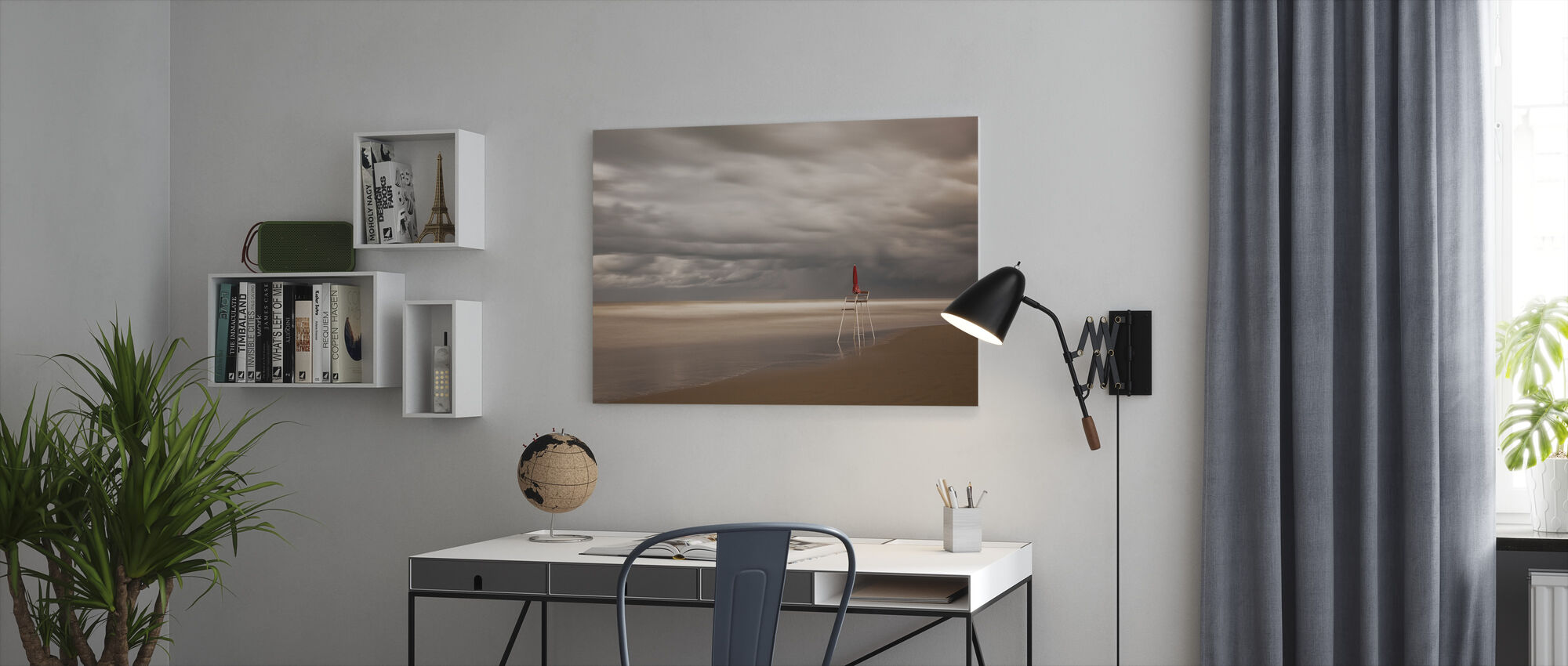 Red - Canvas print - Office