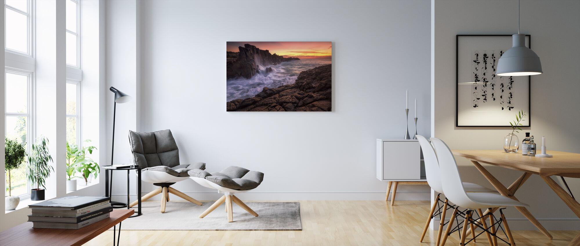 Vägg vid havet - Canvastavla - Vardagsrum