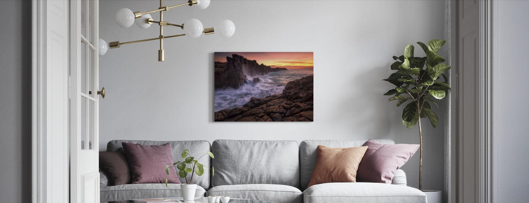 Mur ved havet - Billede på lærred - Stue