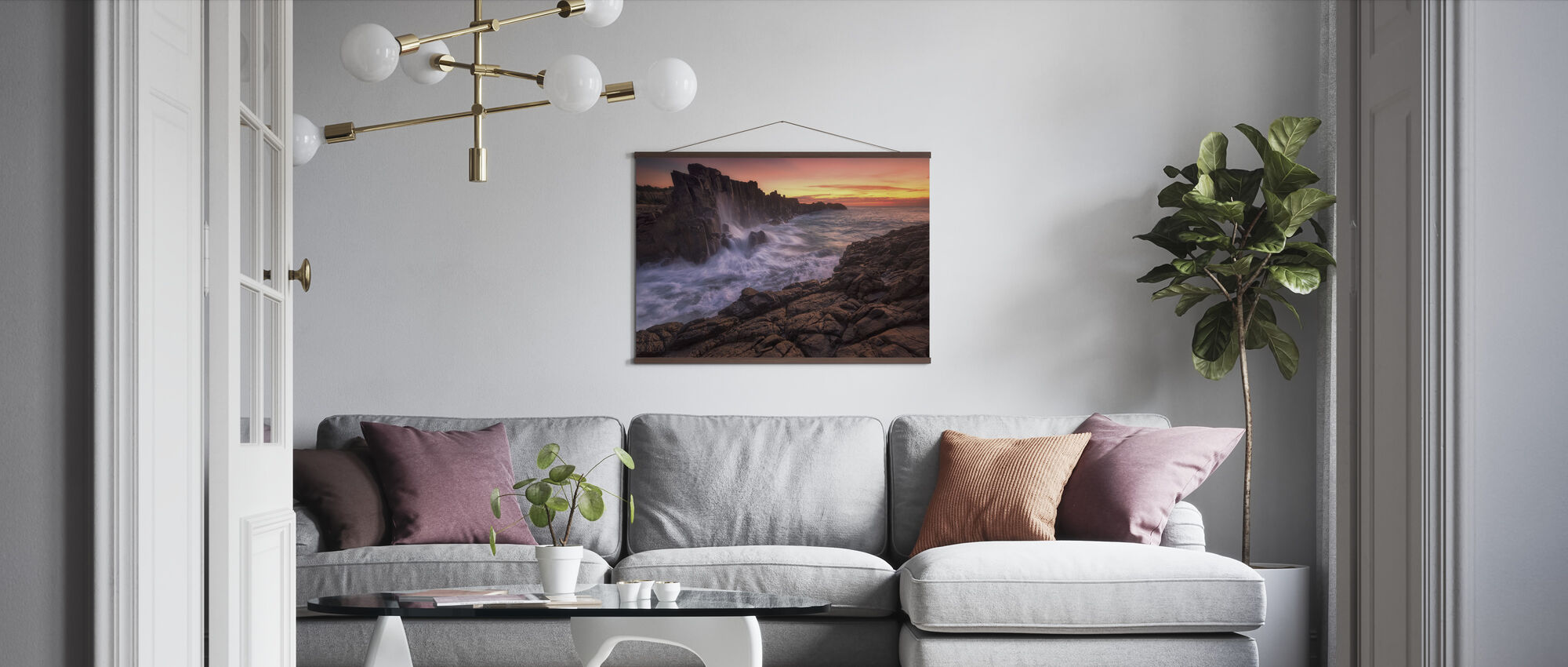 Wall by the Sea - Poster - Living Room