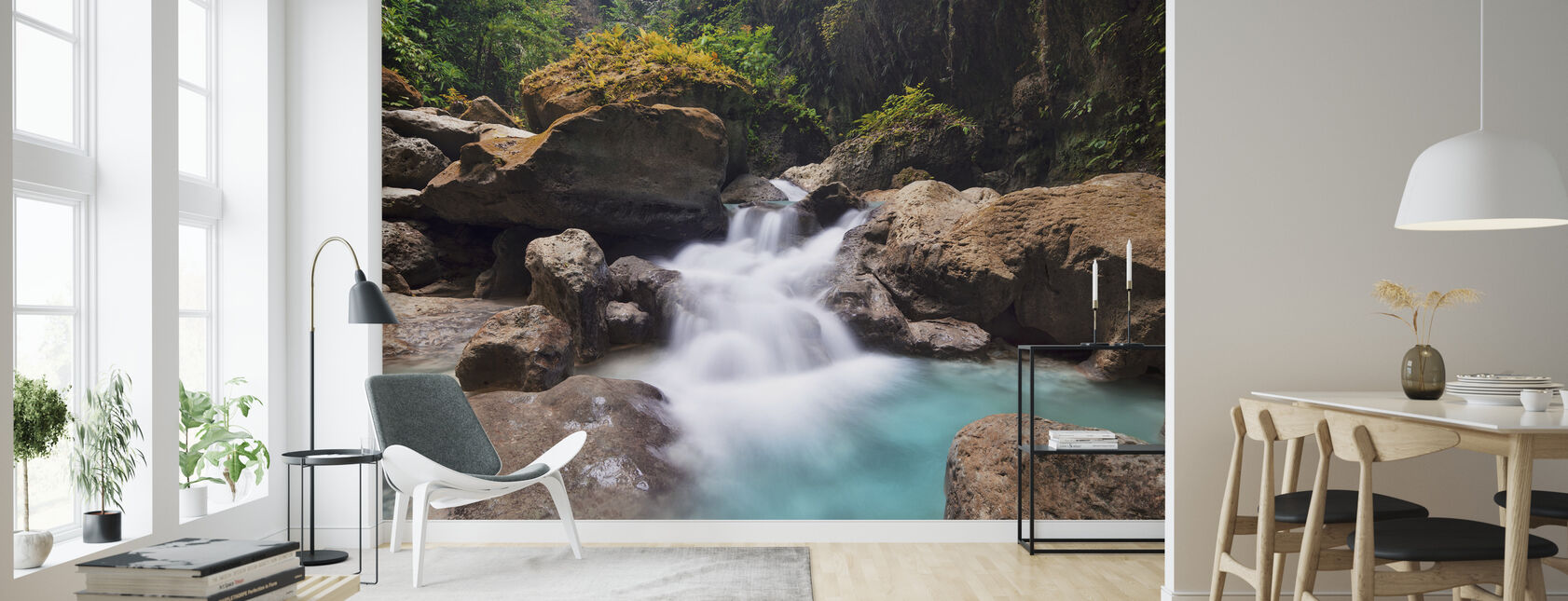 Canyon aux chutes Kawasan I - Papier peint - Salle à manger