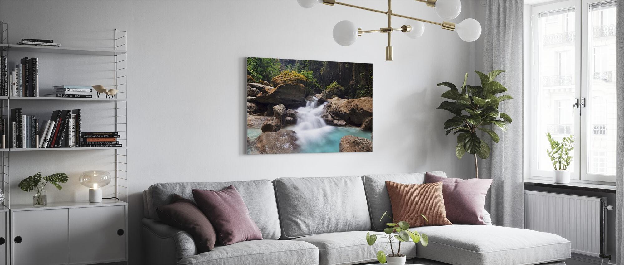 Canyon på Kawasan Falls I - Lerretsbilde - Stue