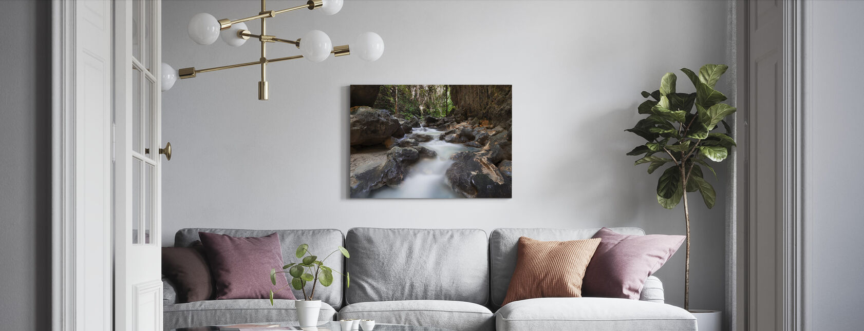 Canyon at Kawasan Falls II - Canvas print - Living Room