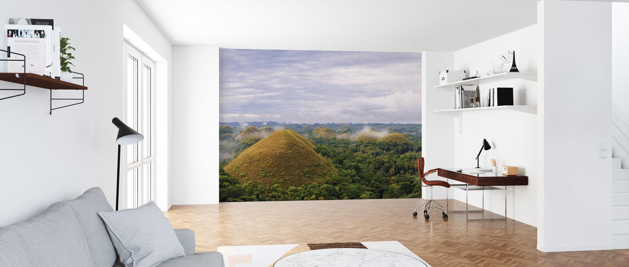 Chocolate hills, panoramic - Wallpaper - Office