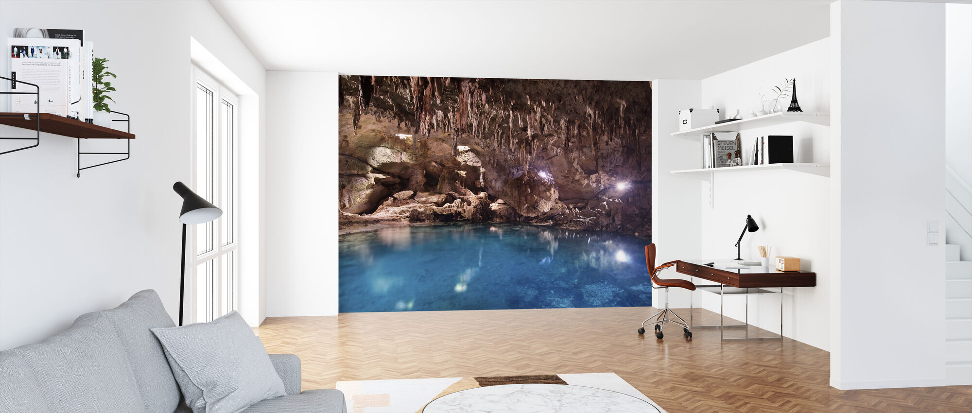Hinagdanan Cave Pool - Wallpaper - Office