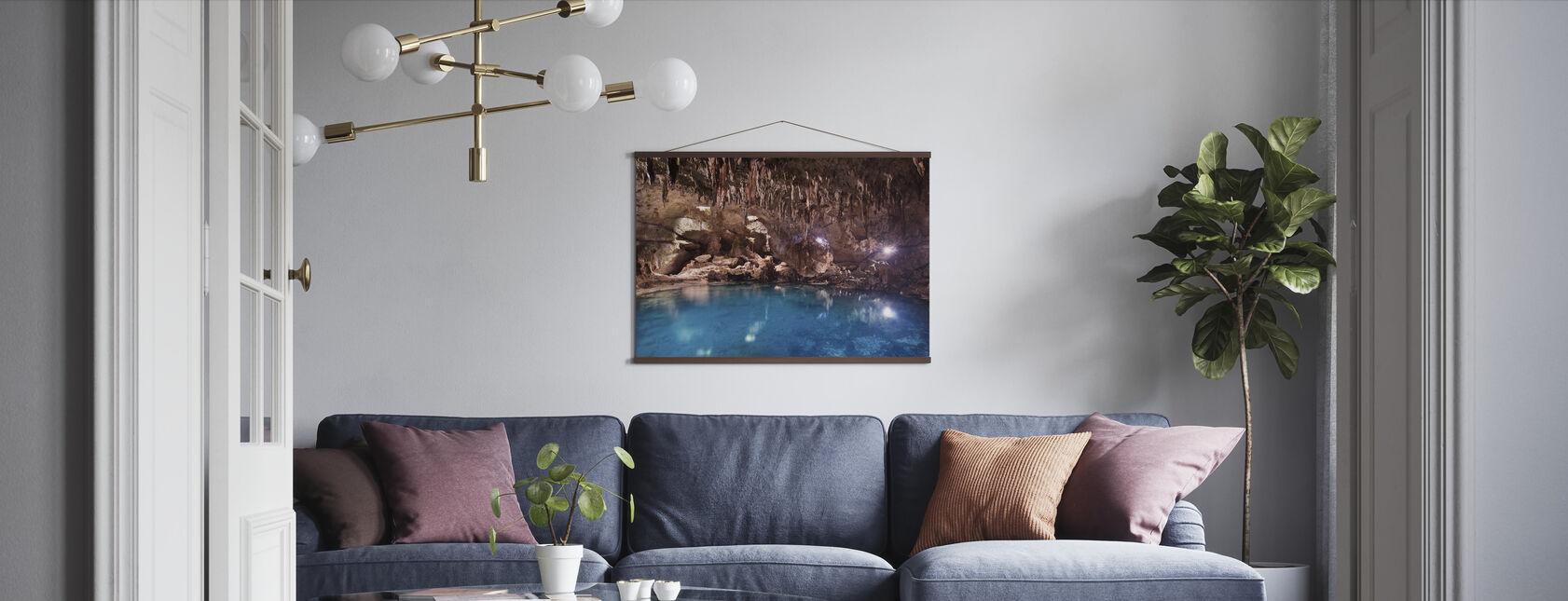 Hinagdanan Cave Pool - Poster - Living Room