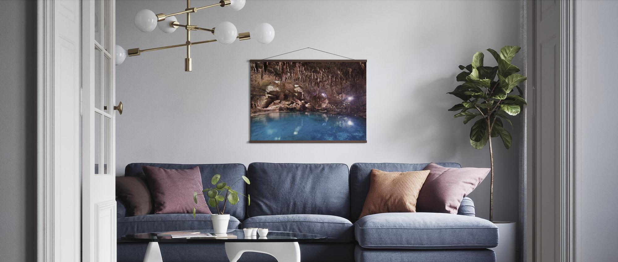 Hinagdanan Cave Pool - Poster - Woonkamer