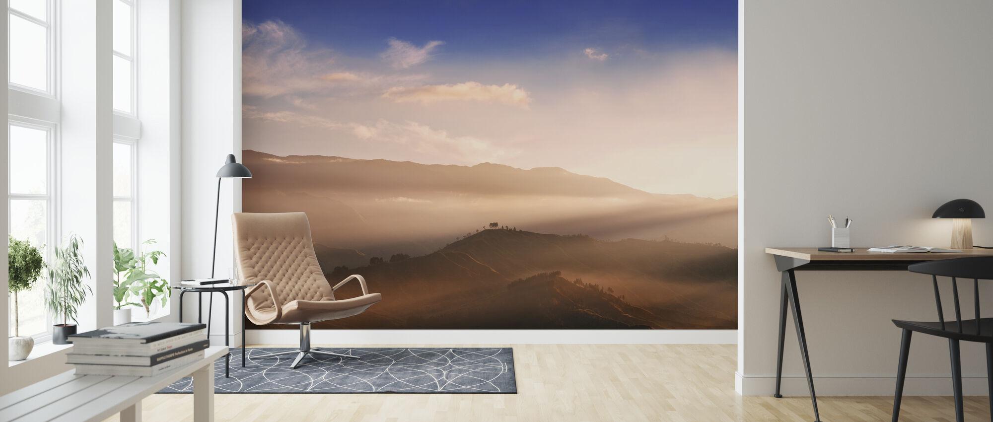 Sunrise At Panimahawa Ridge II - Wallpaper - Living Room