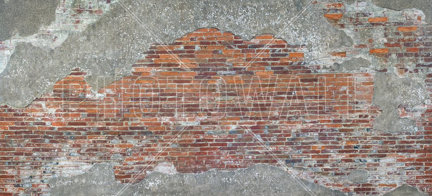 Old Roman Brick Wall Fototapeter & Tapeter 100 x 100 cm