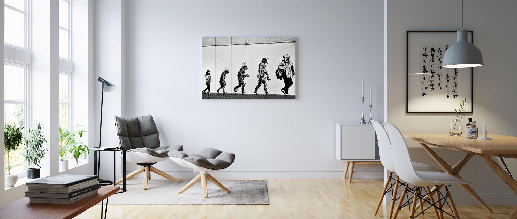 Evolutie - Canvas print - Woonkamer