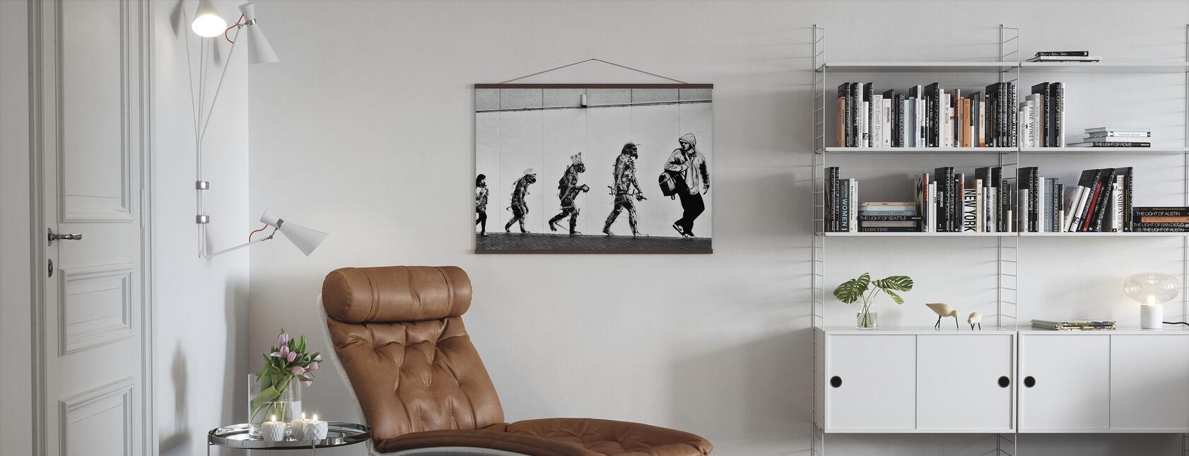 Evolutie - Poster - Woonkamer