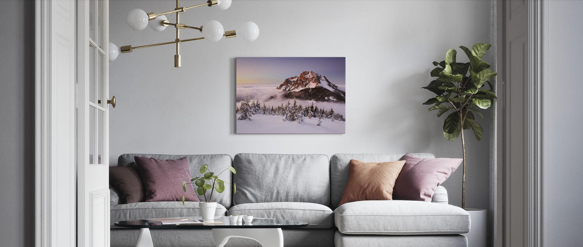 Rozsutec peak - Canvas print - Living Room