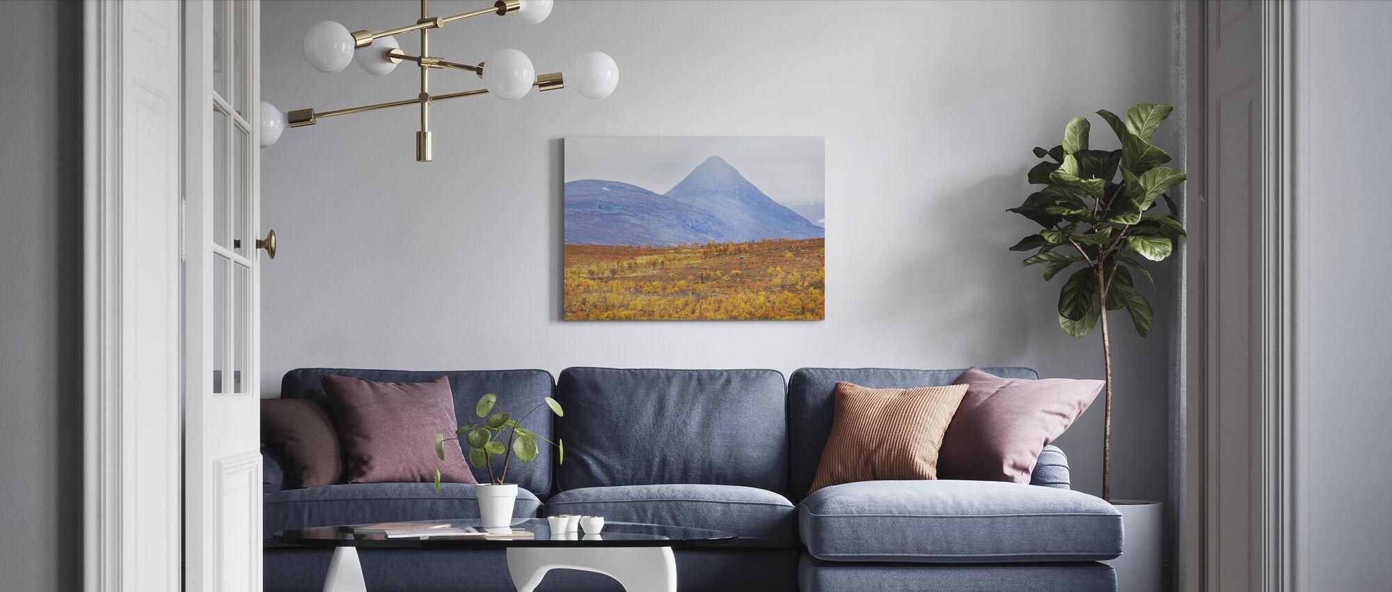 Autumn Saltoluokta Mountains - Canvas print - Living Room