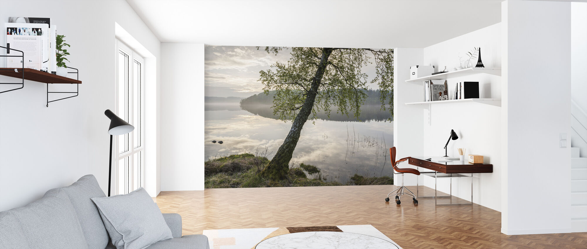 Beautiful Swedish Lake - Wallpaper - Office