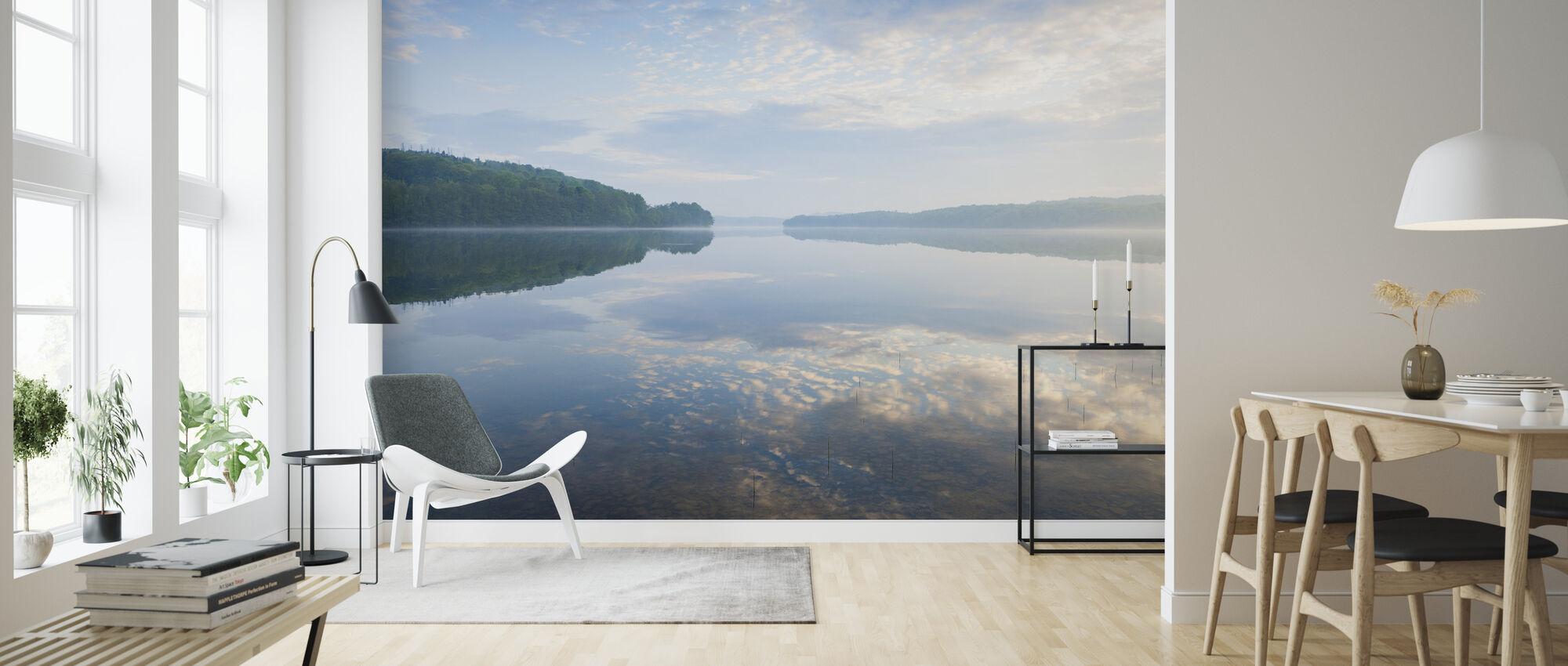 Blå Svensk Summer Lake - Tapet - Stue