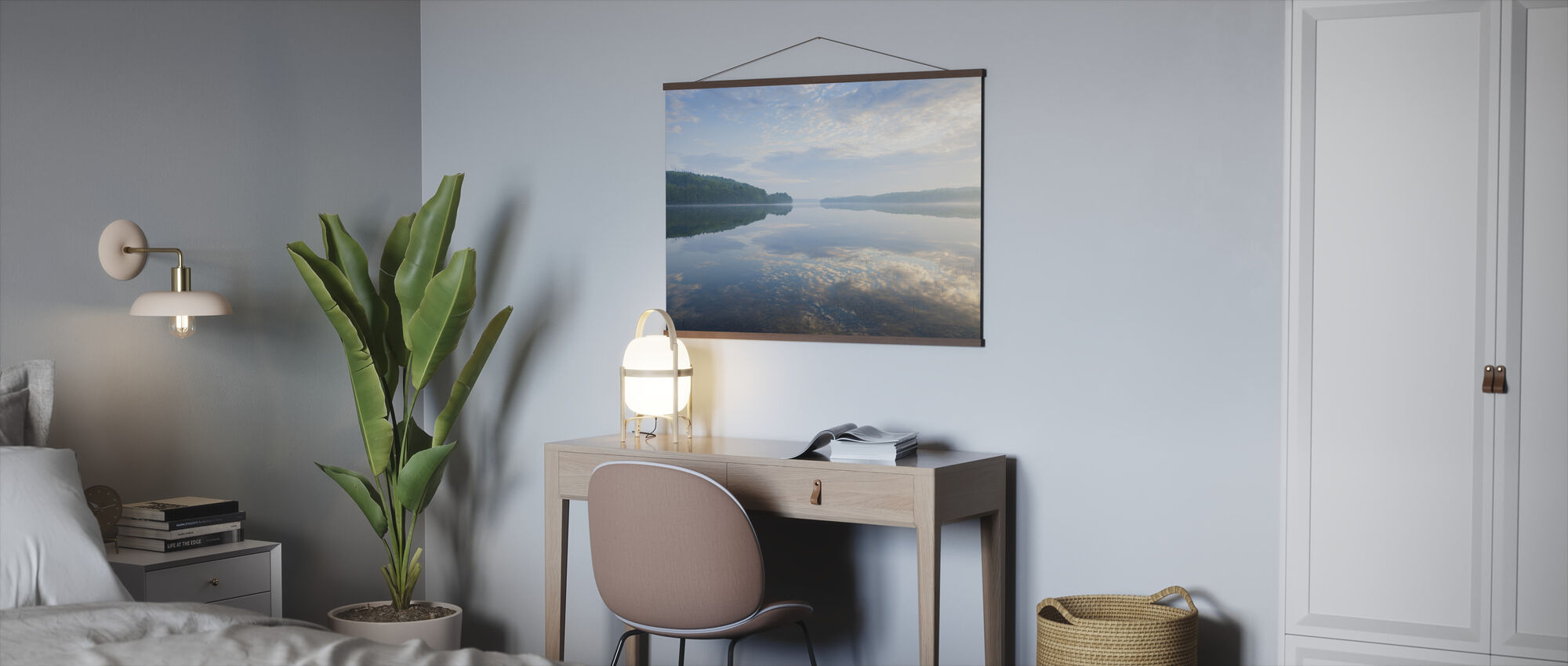 Blue Swedish Summer Lake - Poster - Office
