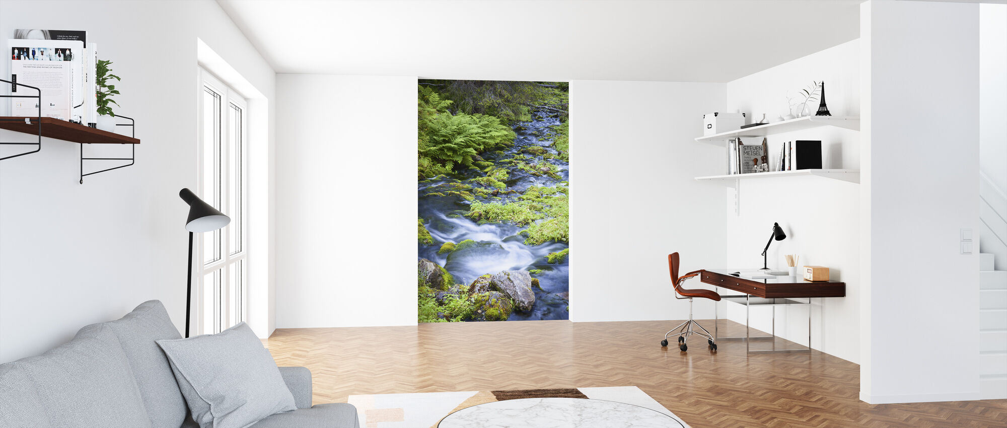 Finnish Brook - Wallpaper - Office