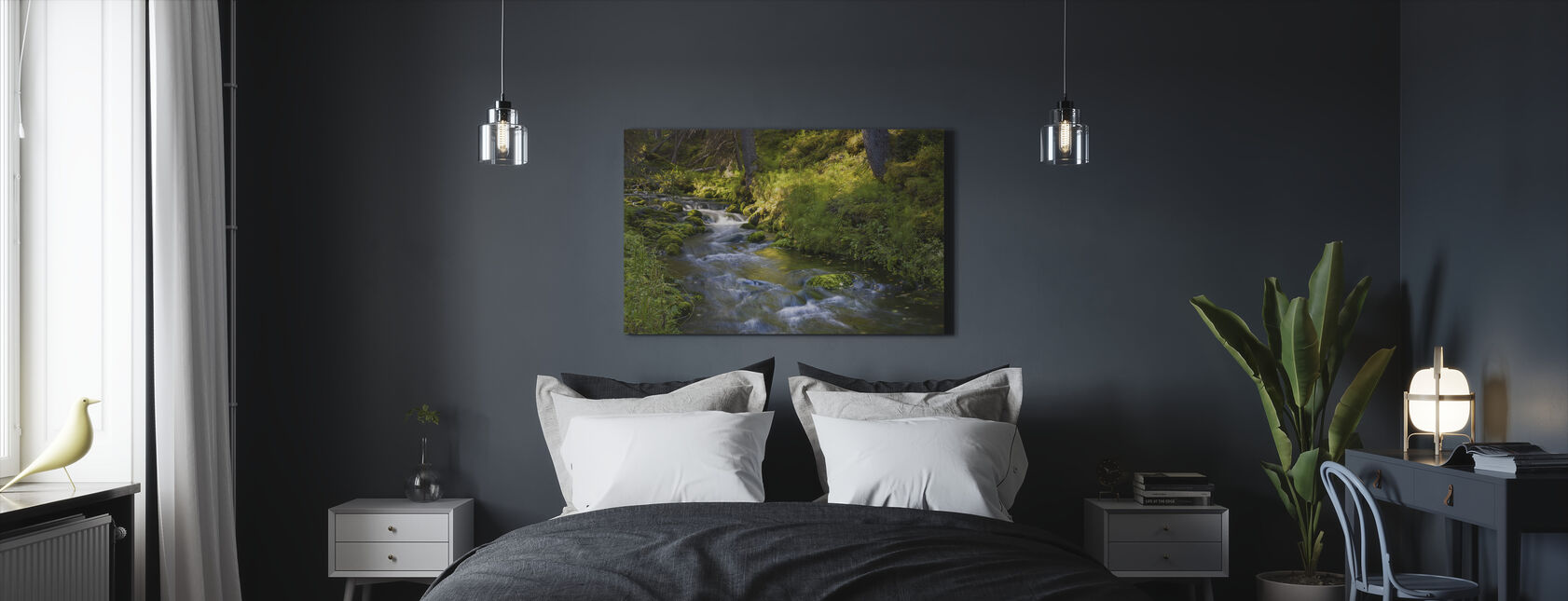 Finnish Forest River - Canvas print - Bedroom