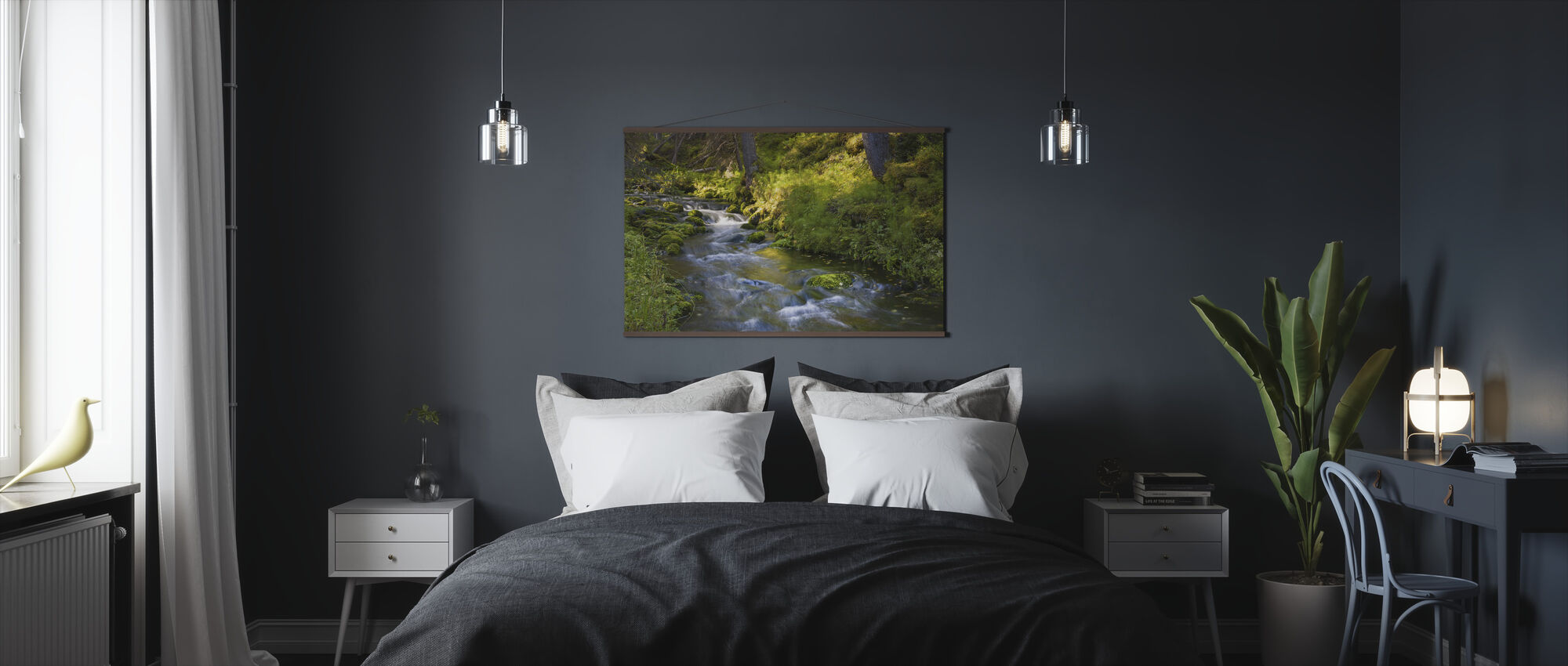 Finnish Forest River - Poster - Bedroom