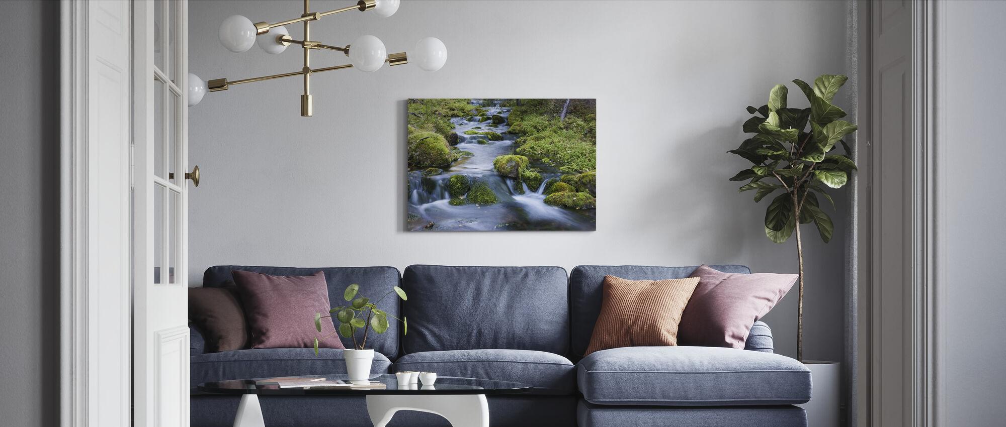 Finse stroom - Canvas print - Woonkamer