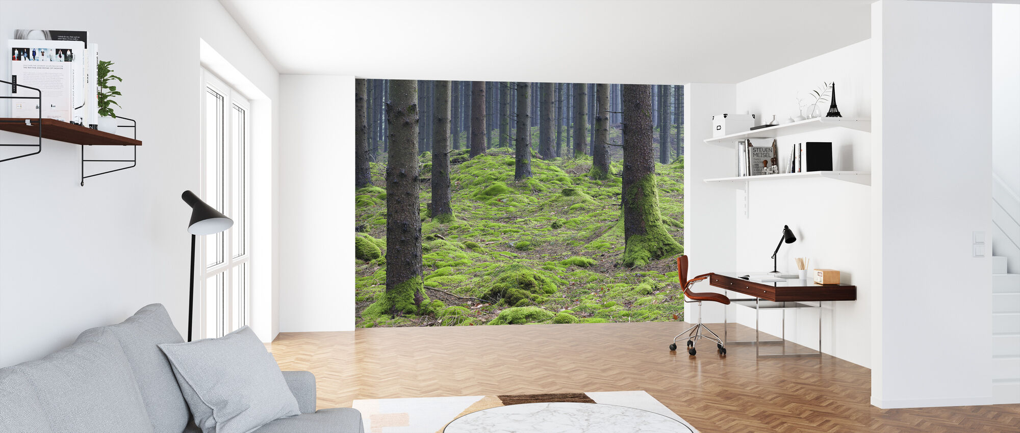 Fir Tree Trunk - Wallpaper - Office