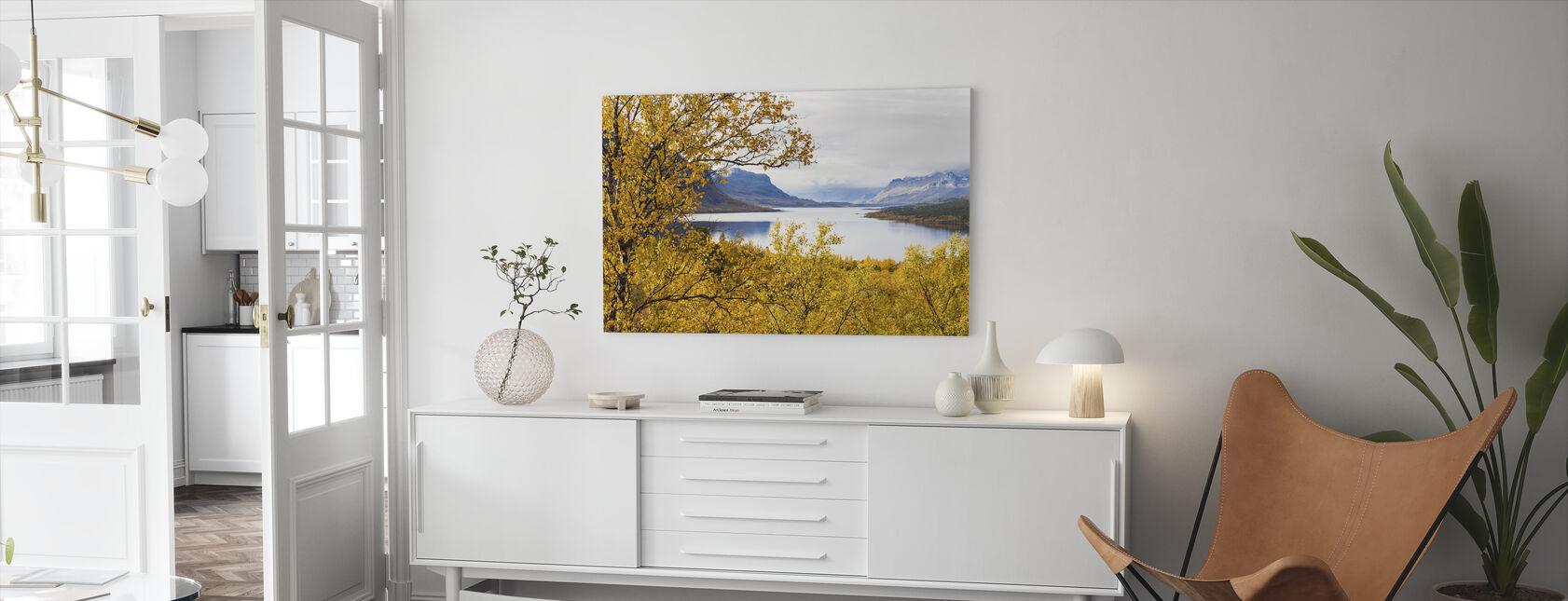 Saltoluokta Landscape - Canvastaulu - Olohuone