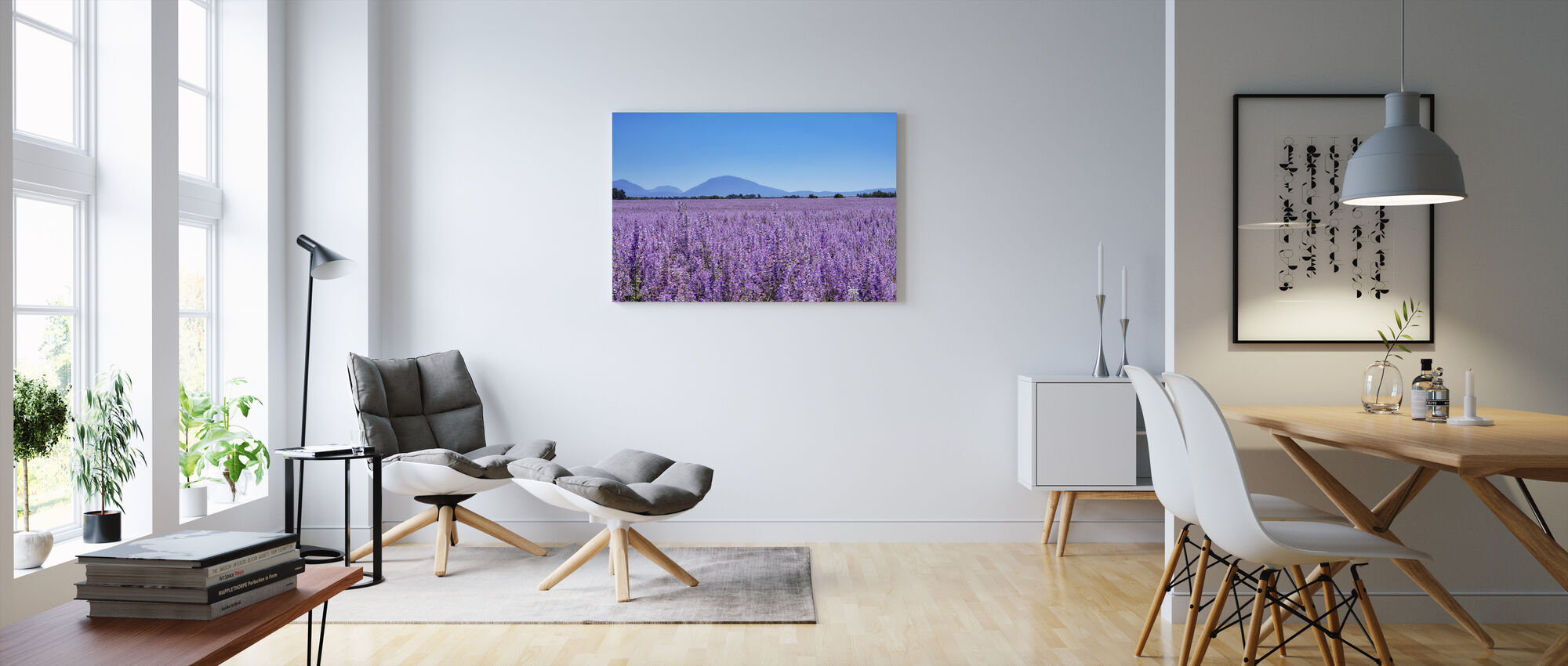 Clary Sage field - Canvas print - Living Room