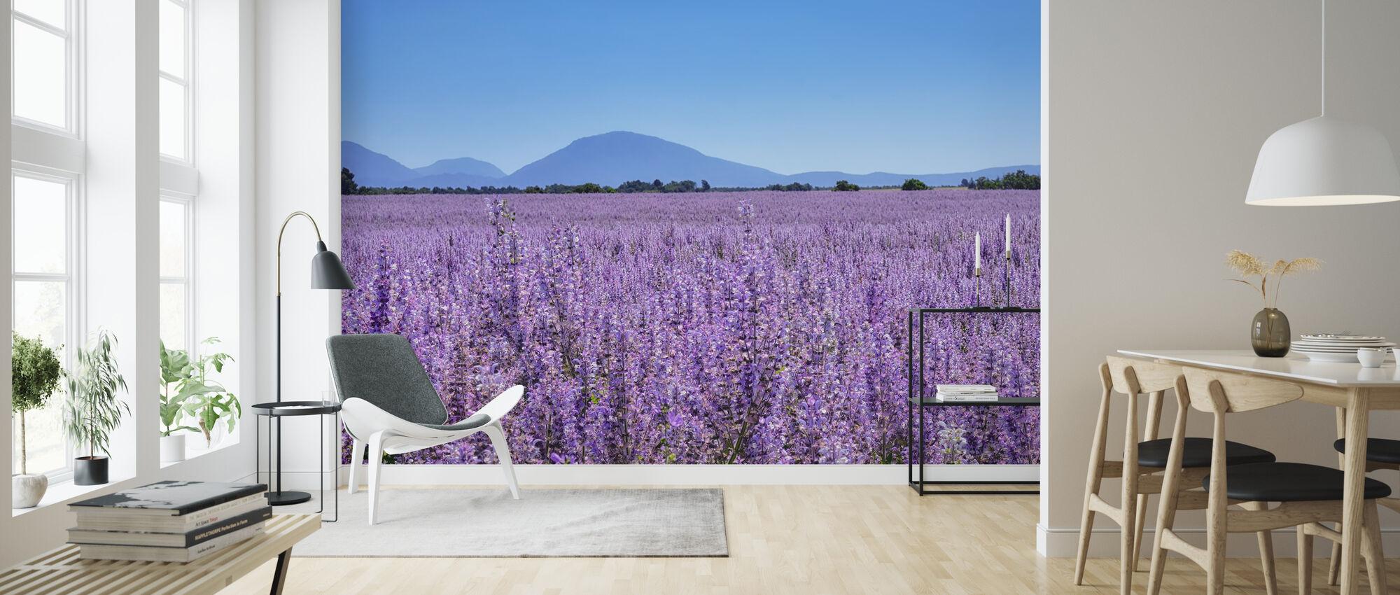 Clary Sage field - Wallpaper - Living Room