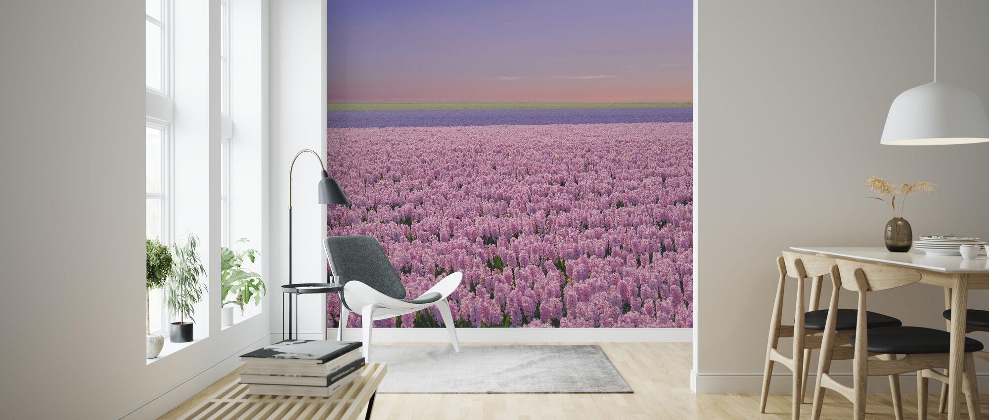 Hyacinthus Field - Wallpaper - Living Room