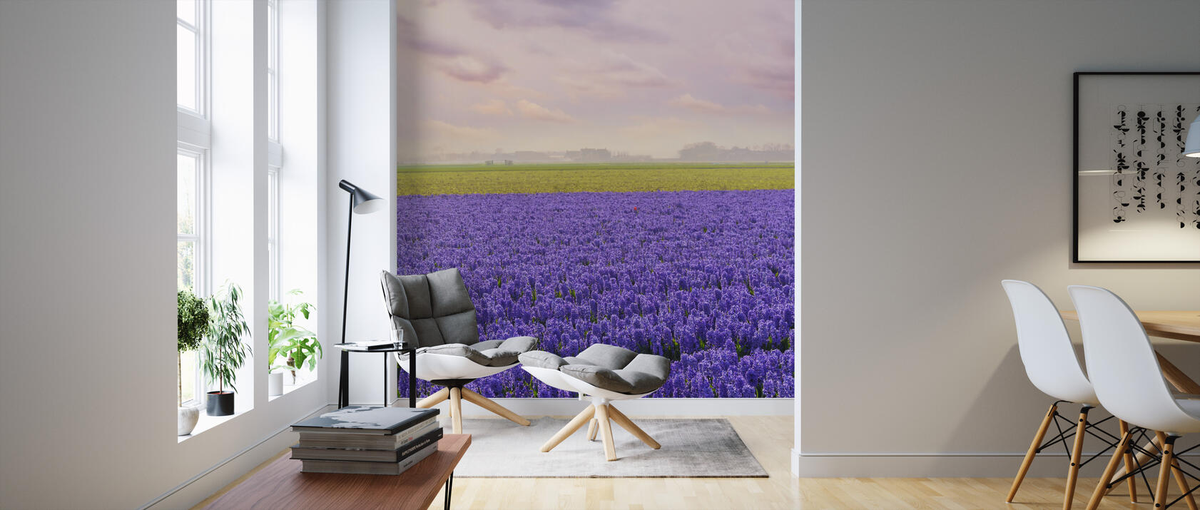 purple hyacinth fototapete nach ma photowall. Black Bedroom Furniture Sets. Home Design Ideas