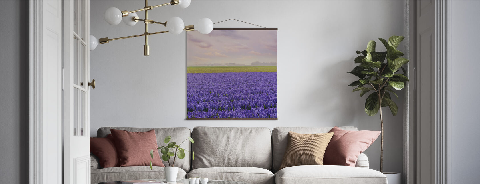 Purple Hyacinth - Poster - Living Room
