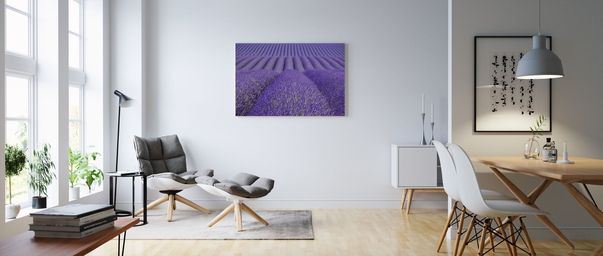 Purple Lavender Field - Canvas print - Living Room