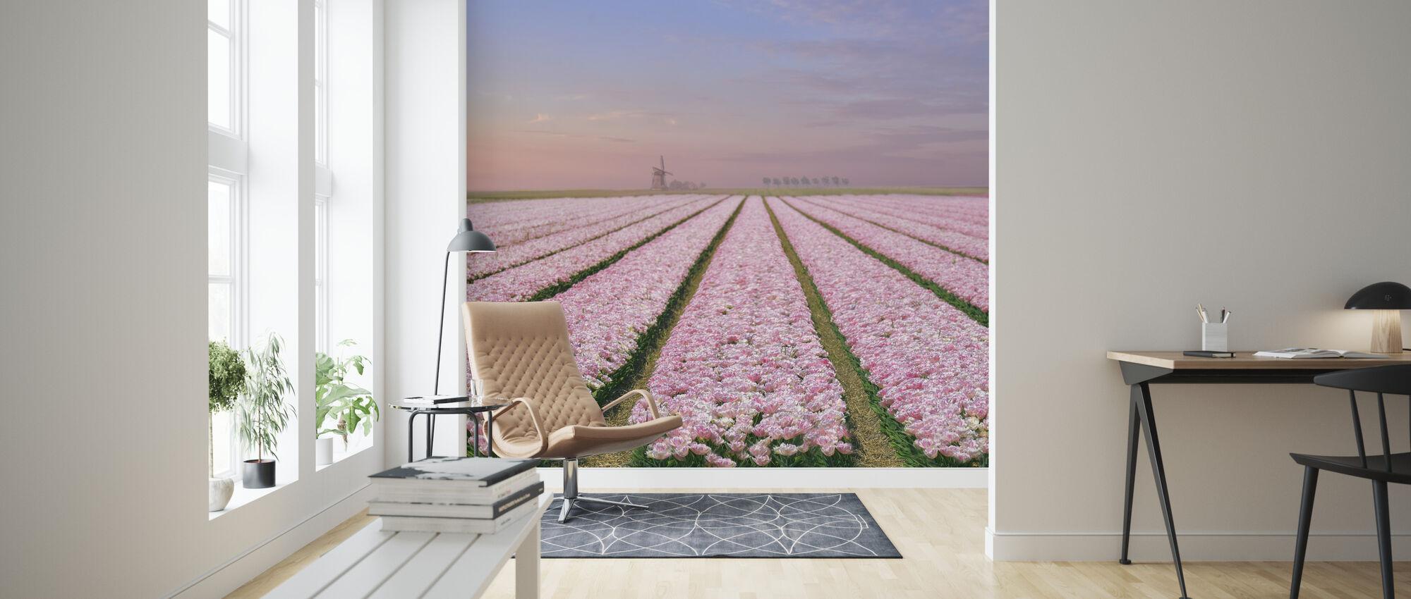 Tulip Fields - Wallpaper - Living Room