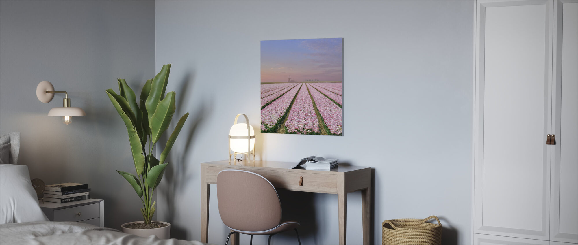 Tulip Fields - Canvas print - Office