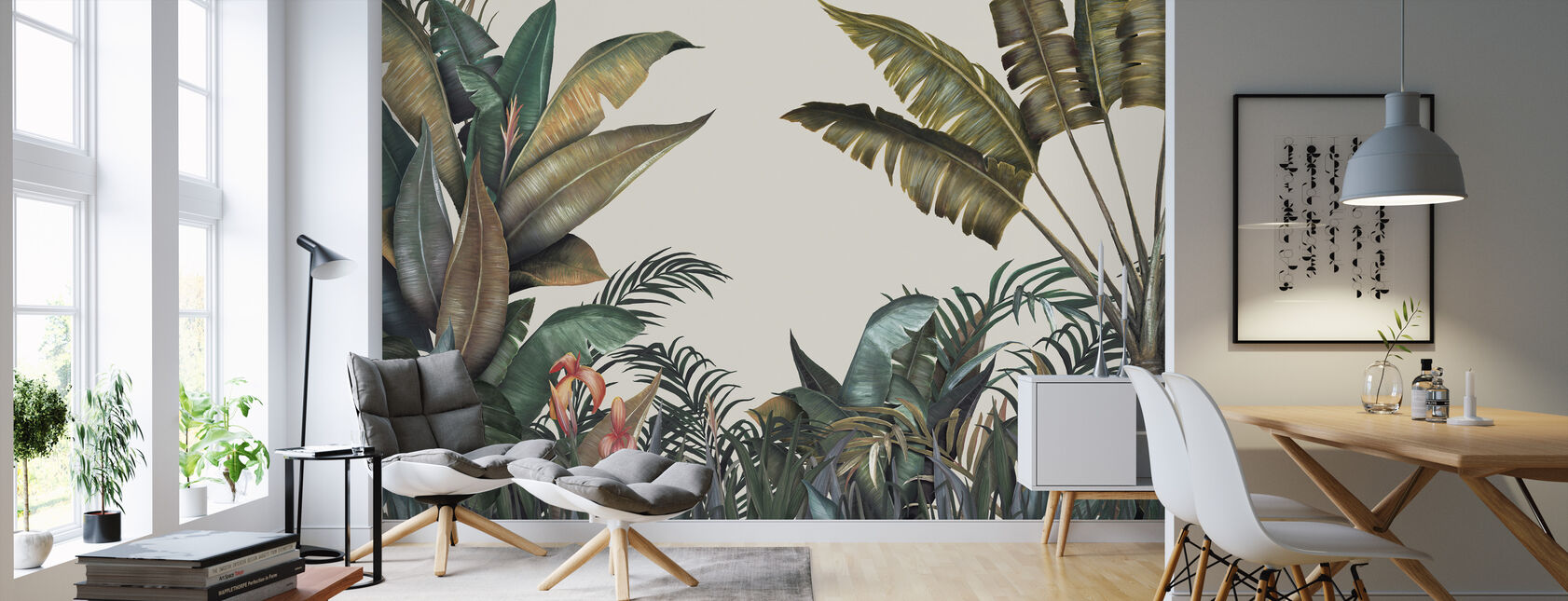 Tropical - Wallpaper - Living Room