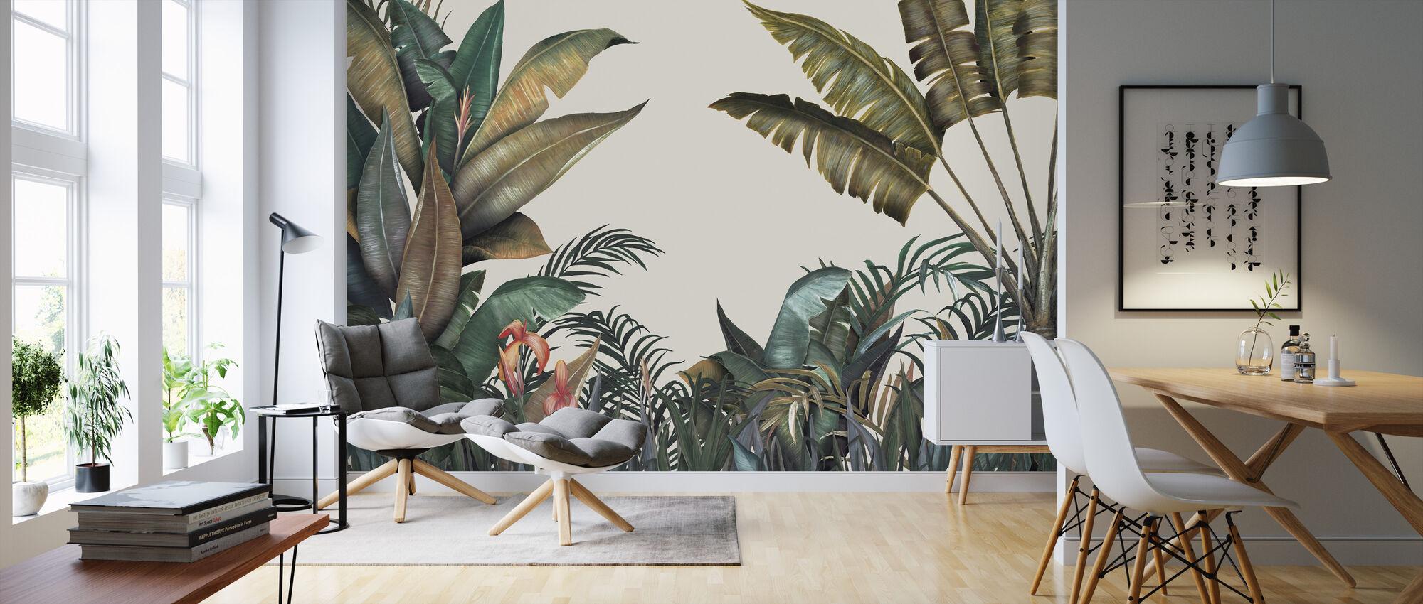 Tropisch - Tapete - Wohnzimmer