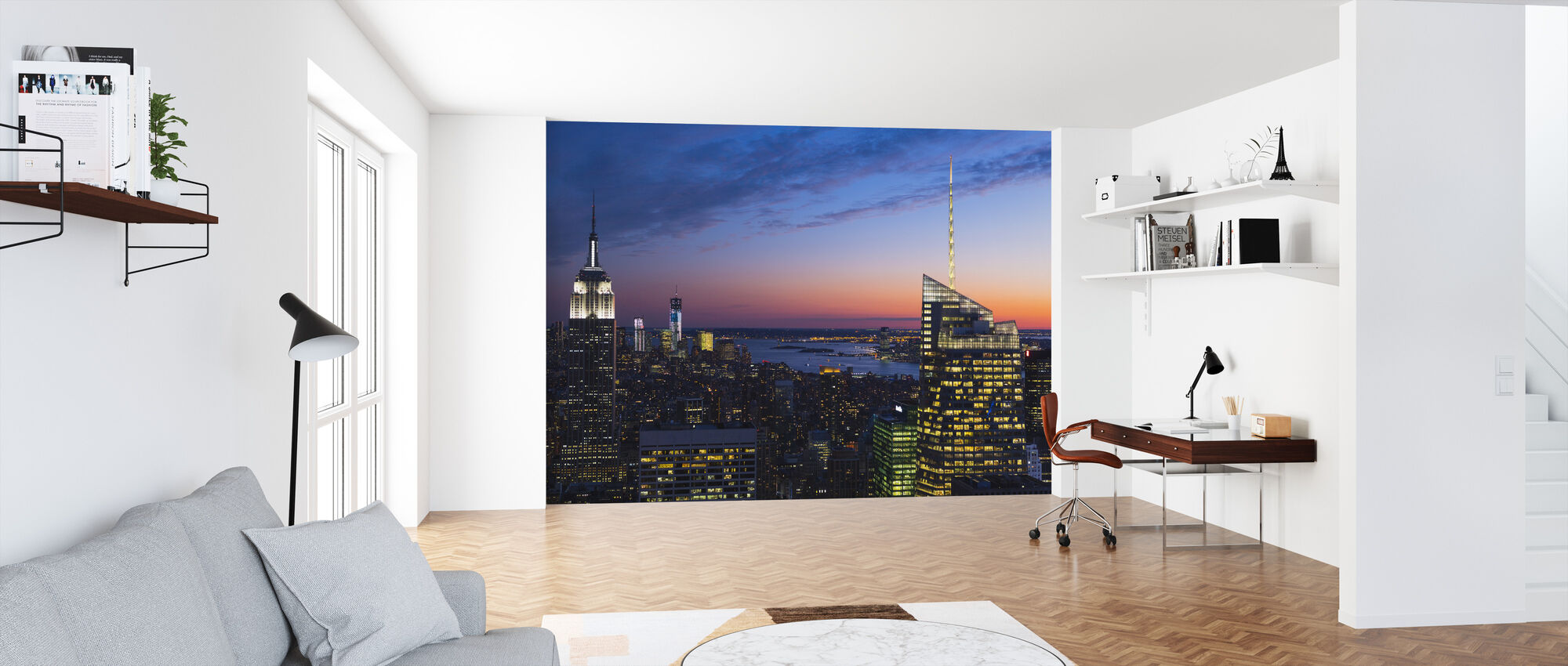 Belyst Manhattan - Tapet - Kontor
