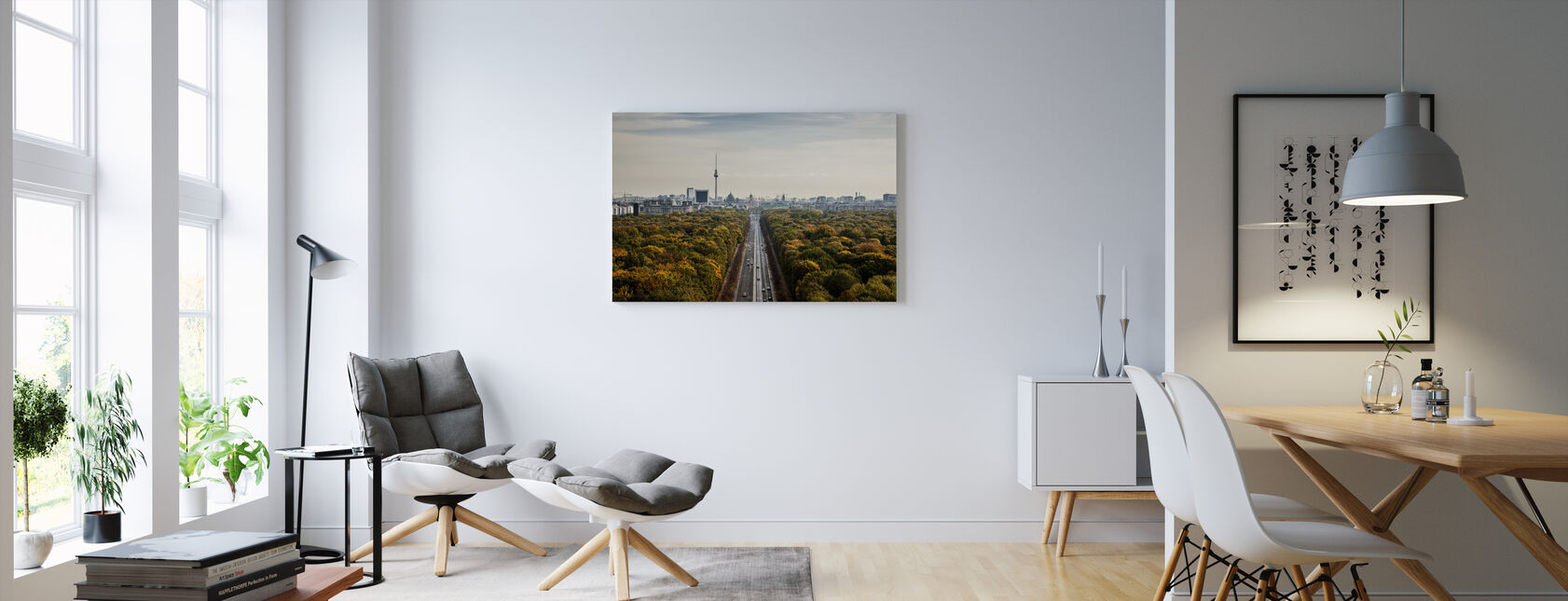 Tiergatan, Berlin - Canvas print - Living Room