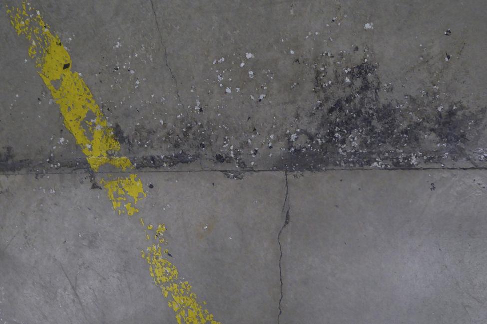 Concrete Floor on Wall 1 Fototapeter & Tapeter 100 x 100 cm
