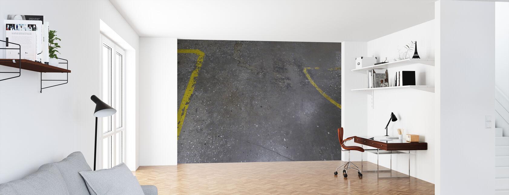 Concrete Floor on Wall 4 - Wallpaper - Office