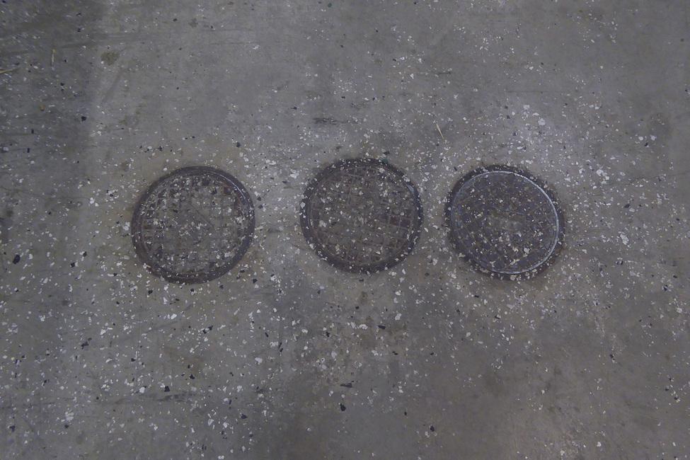Concrete Floor on Wall 6 Fototapeter & Tapeter 100 x 100 cm