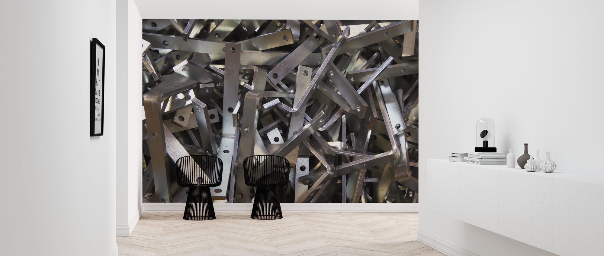 Metal Angle Chaos - Wallpaper - Hallway